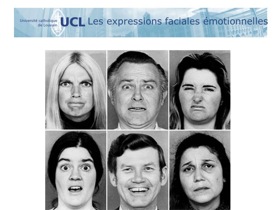 Les expressions faciales émotionnelles