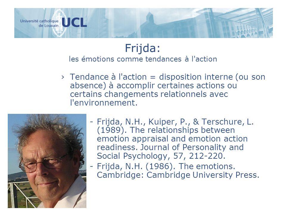 Frijda: les émotions comme tendances à l action