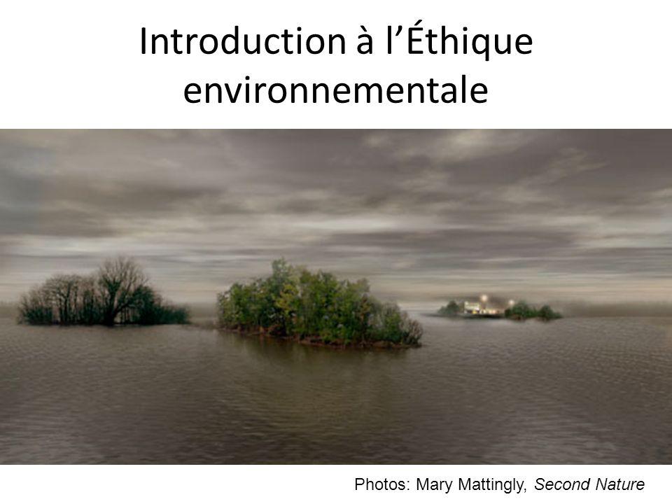 Introduction à l'Éthique environnementale
