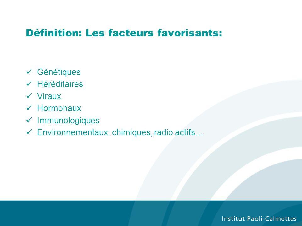 Définition: Les facteurs favorisants: