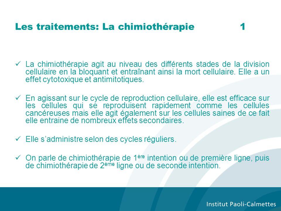 Les traitements: La chimiothérapie 1