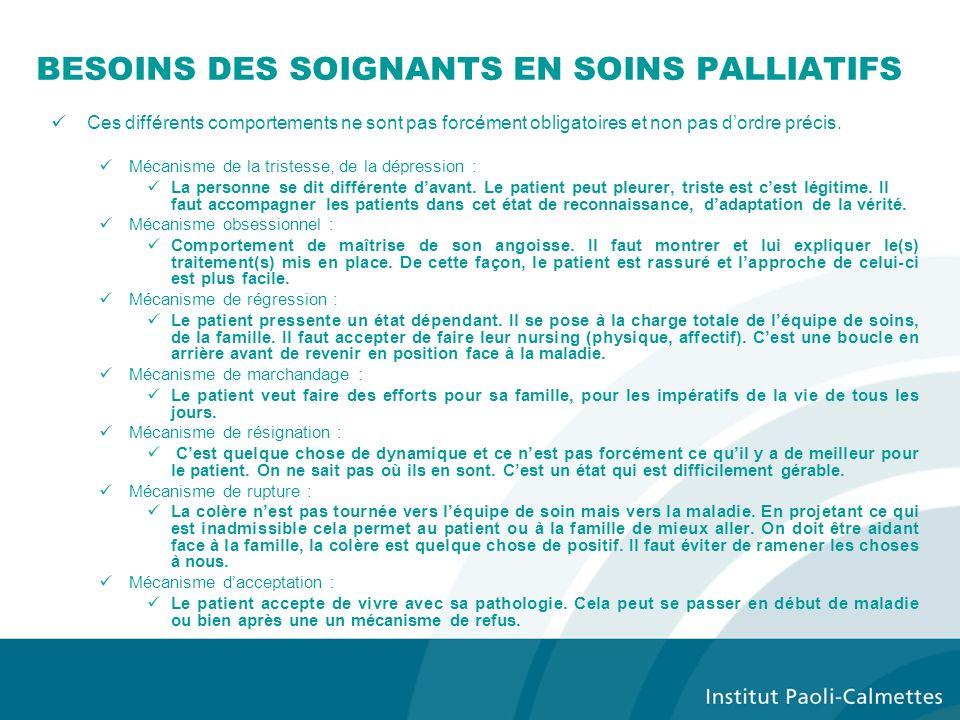 BESOINS DES SOIGNANTS EN SOINS PALLIATIFS