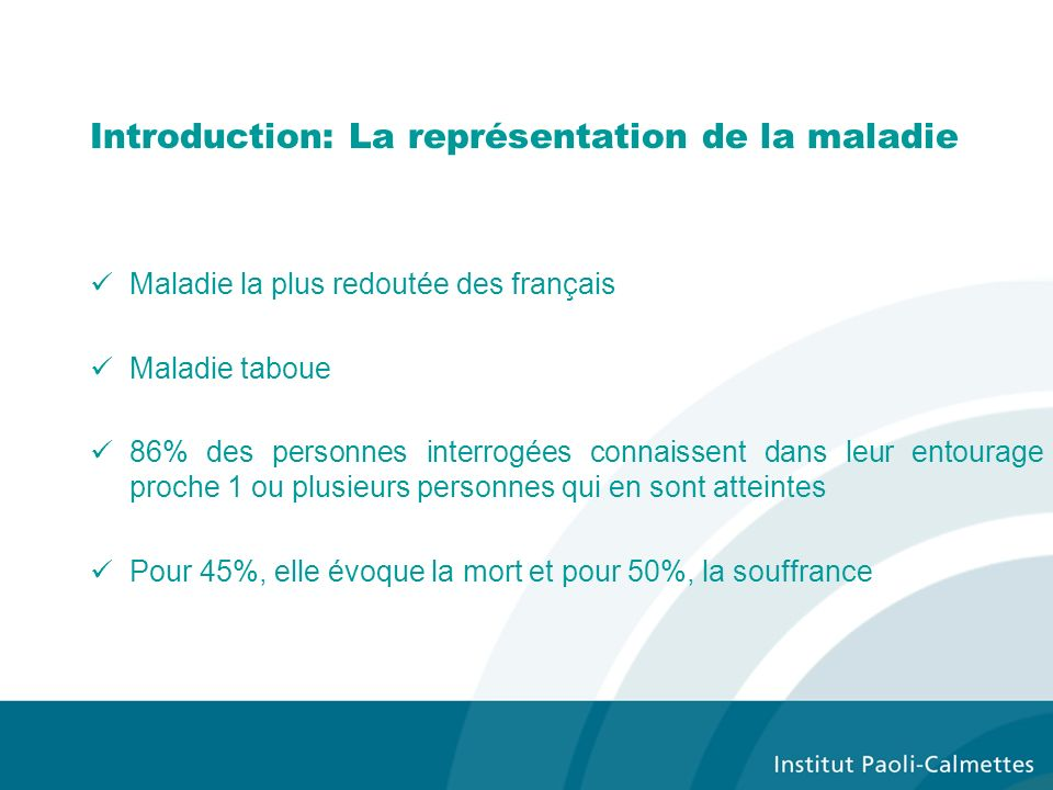 Introduction: La représentation de la maladie