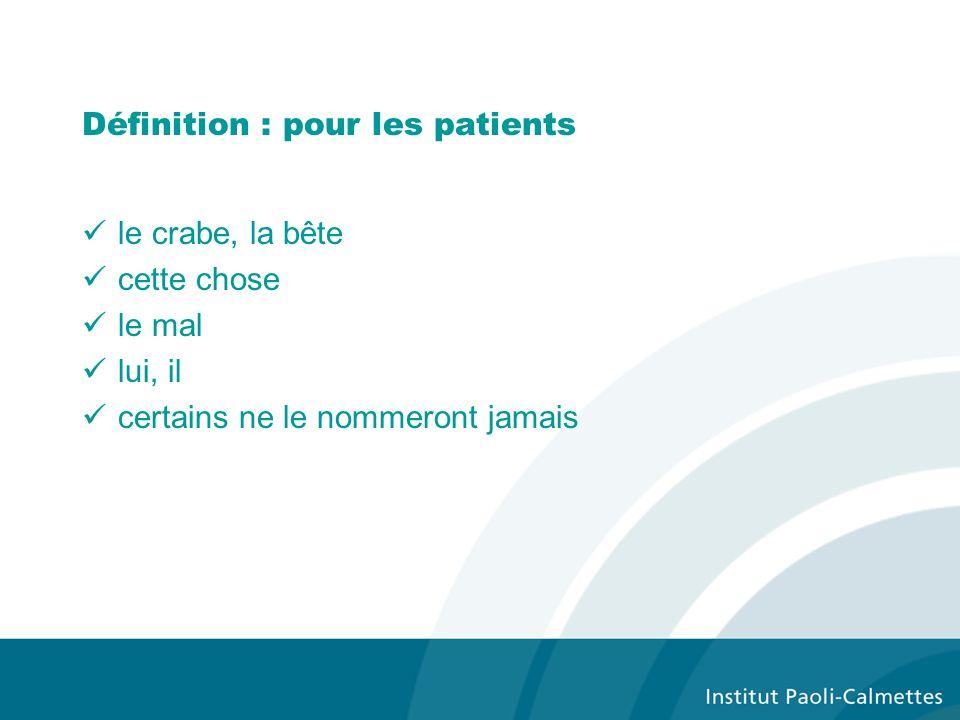 Définition : pour les patients
