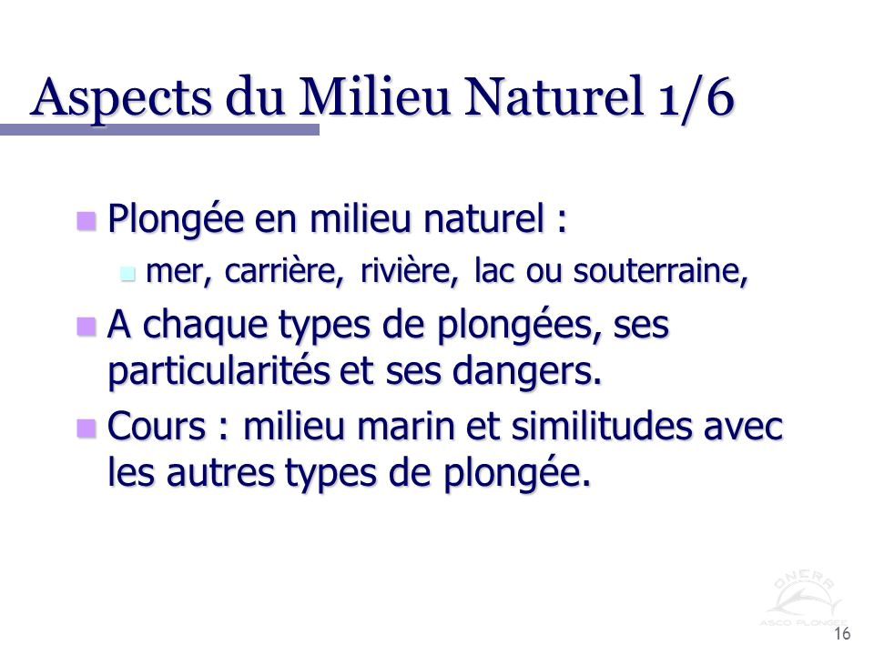 Aspects du Milieu Naturel 1/6