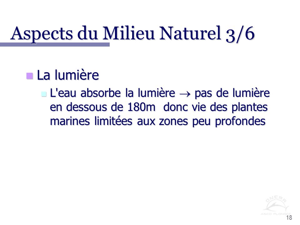 Aspects du Milieu Naturel 3/6