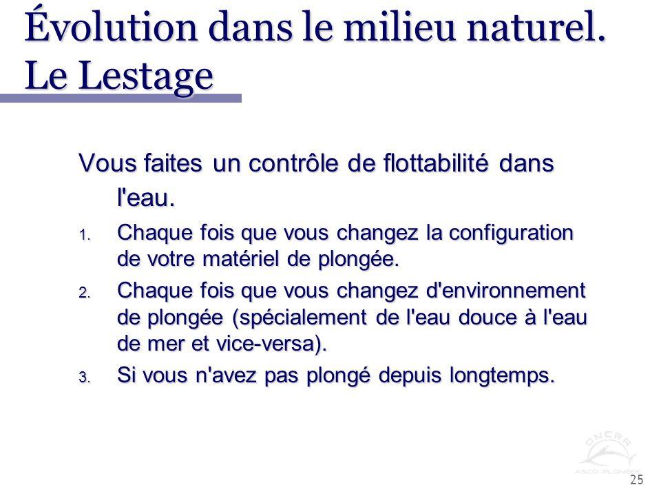 Évolution dans le milieu naturel. Le Lestage