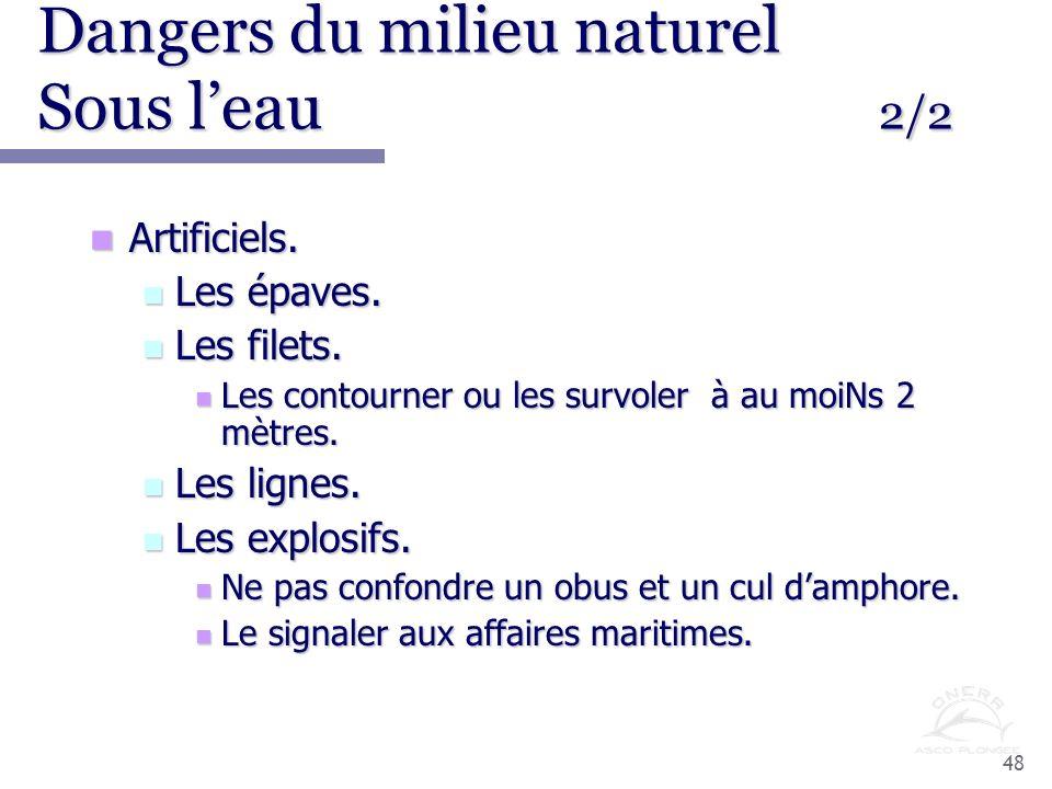 Dangers du milieu naturel Sous l'eau 2/2