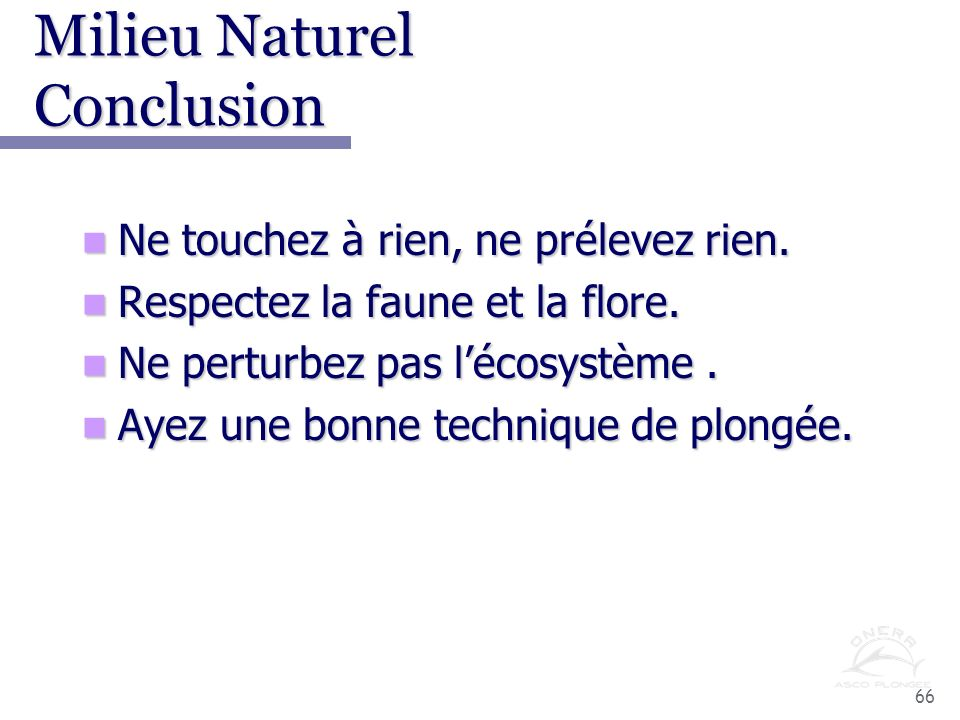 Milieu Naturel Conclusion