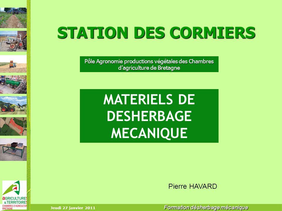MATERIELS DE DESHERBAGE MECANIQUE