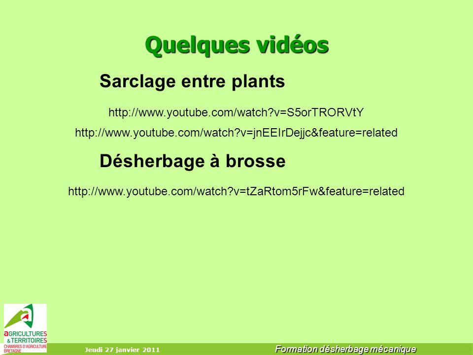 Sarclage entre plants Désherbage à brosse