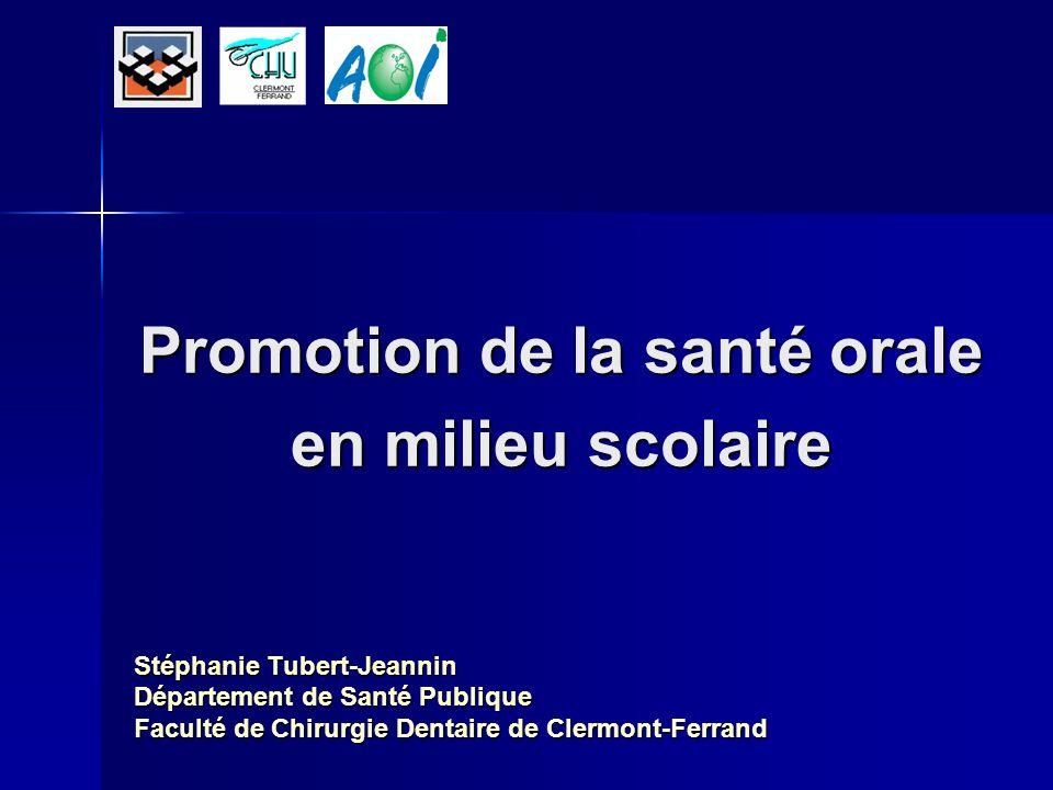 Promotion de la santé orale en milieu scolaire