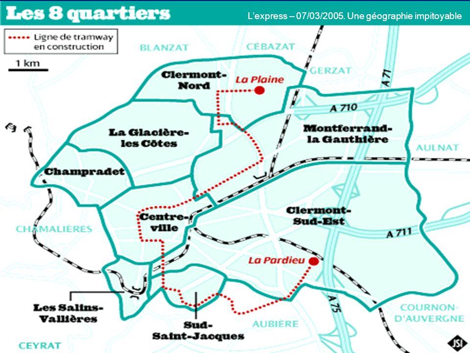 L'express – 07/03/2005. Une géographie impitoyable