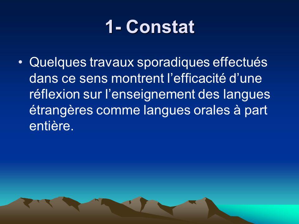 1- Constat