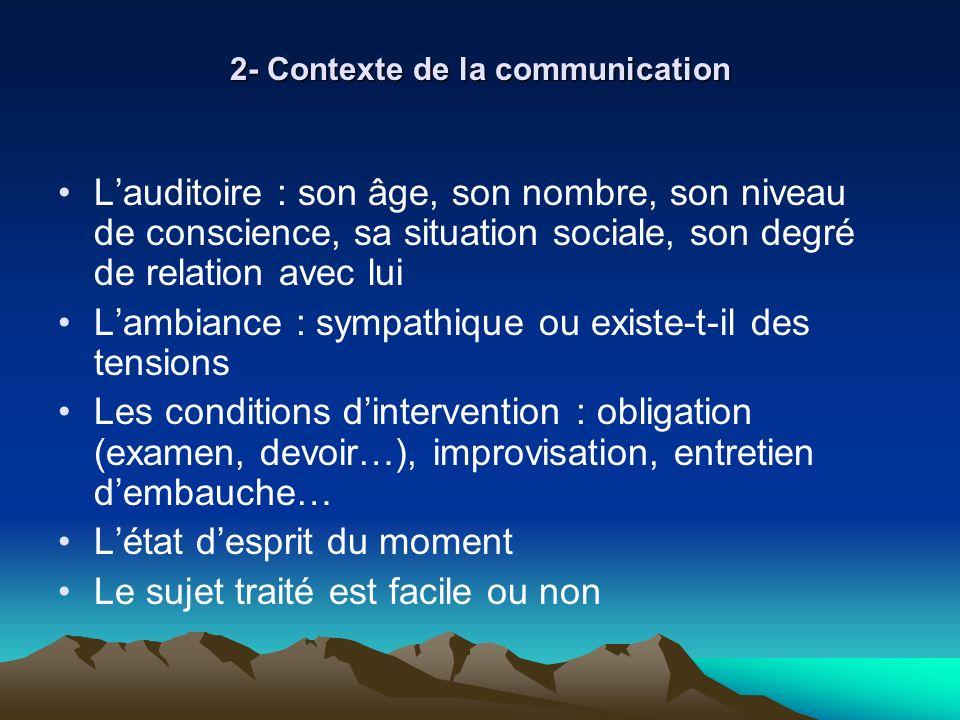2- Contexte de la communication