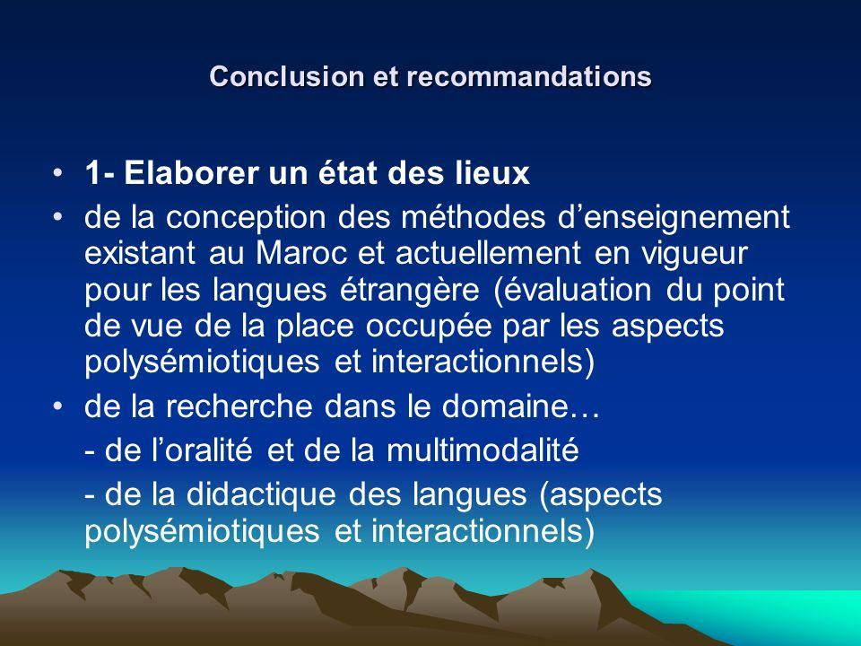 Conclusion et recommandations