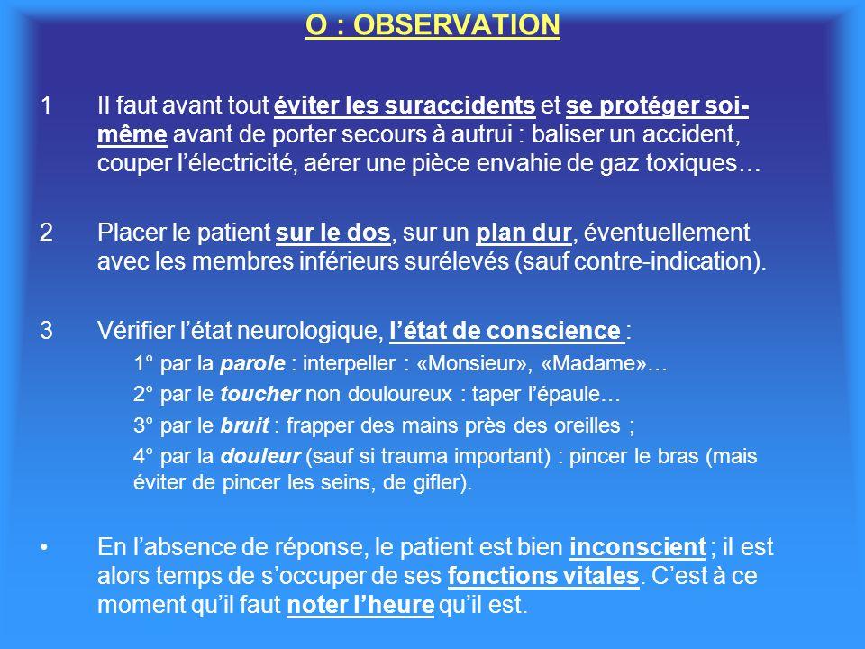 O : OBSERVATION