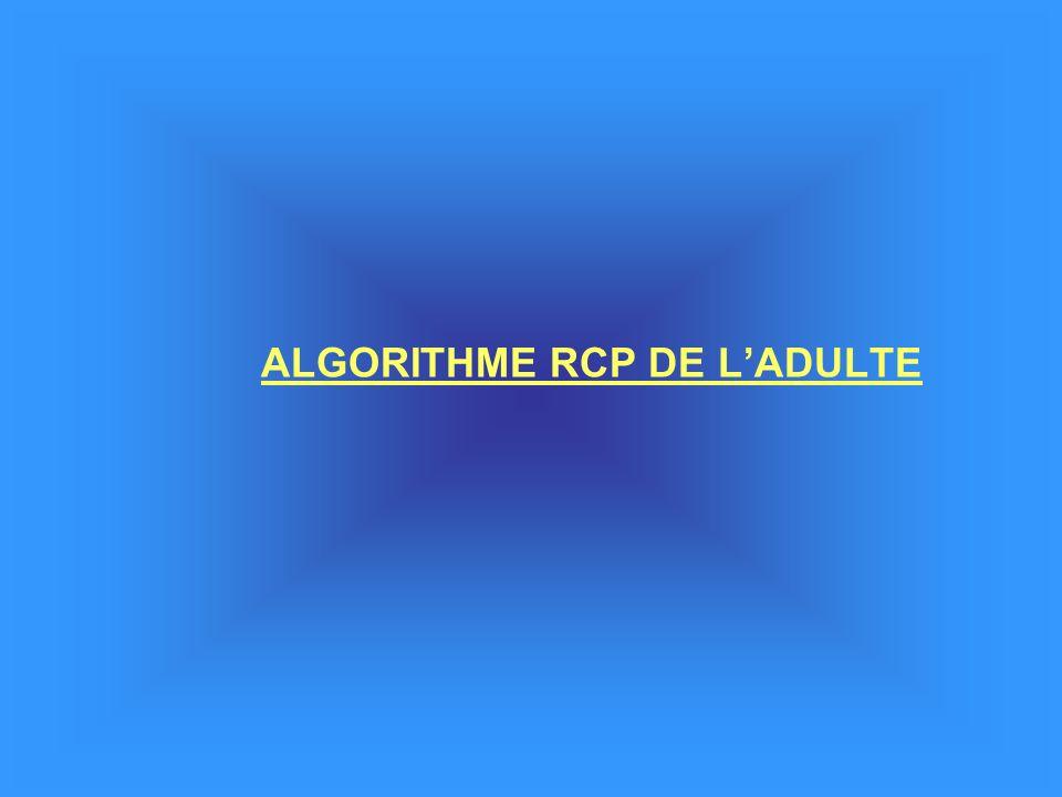 ALGORITHME RCP DE L'ADULTE