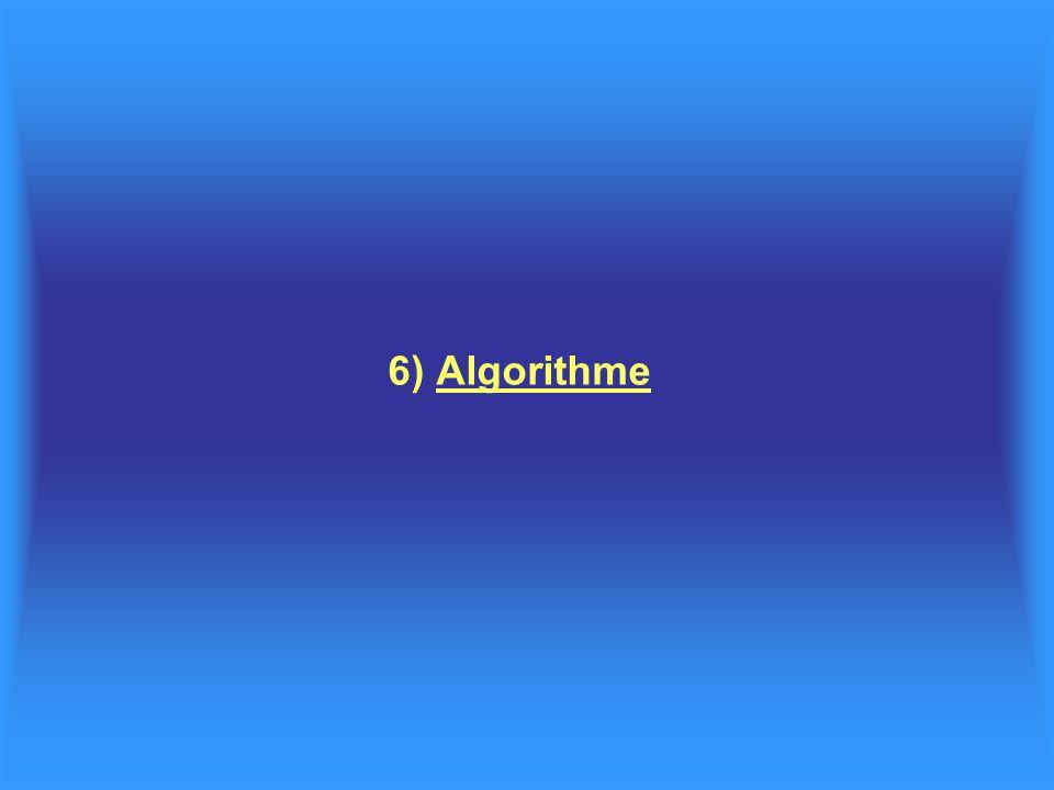 6) Algorithme