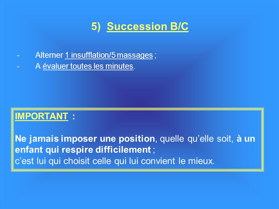 5) Succession B/C IMPORTANT :
