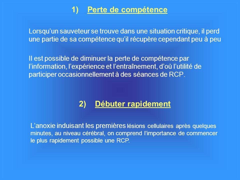 1) Perte de compétence 2) Débuter rapidement