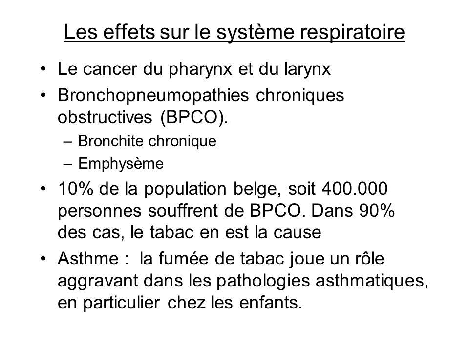 Les effets sur le système respiratoire