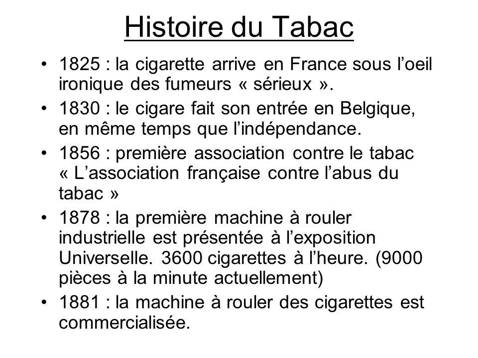 Histoire du Tabac 1825 : la cigarette arrive en France sous l'oeil ironique des fumeurs « sérieux ».