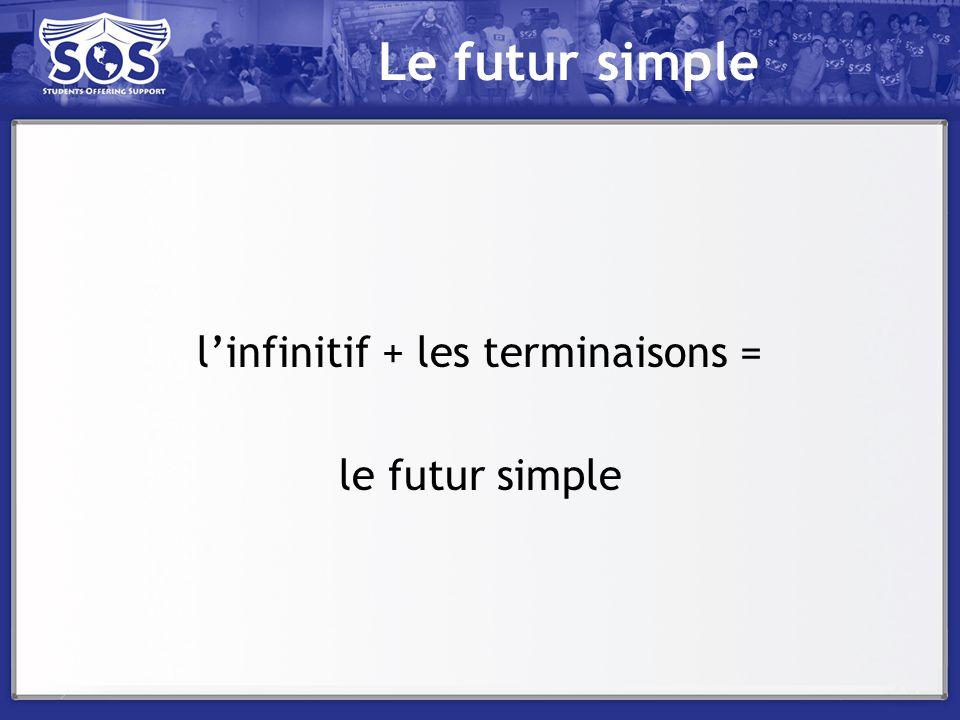 l'infinitif + les terminaisons =