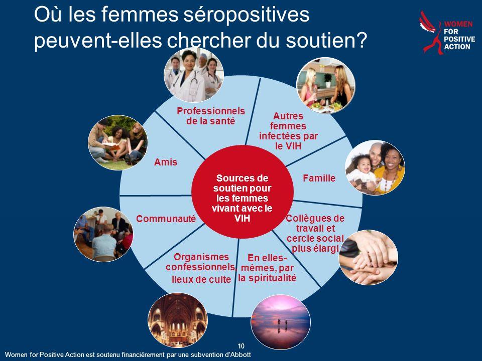 Où les femmes séropositives peuvent-elles chercher du soutien