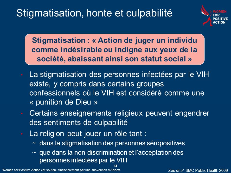 Stigmatisation, honte et culpabilité