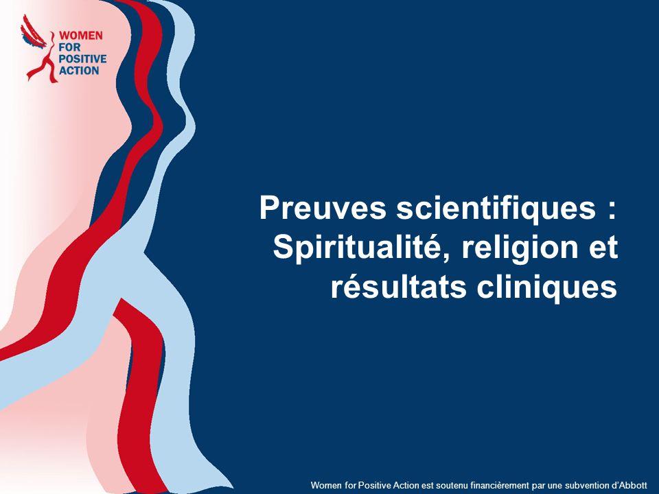 Preuves scientifiques : Spiritualité, religion et résultats cliniques