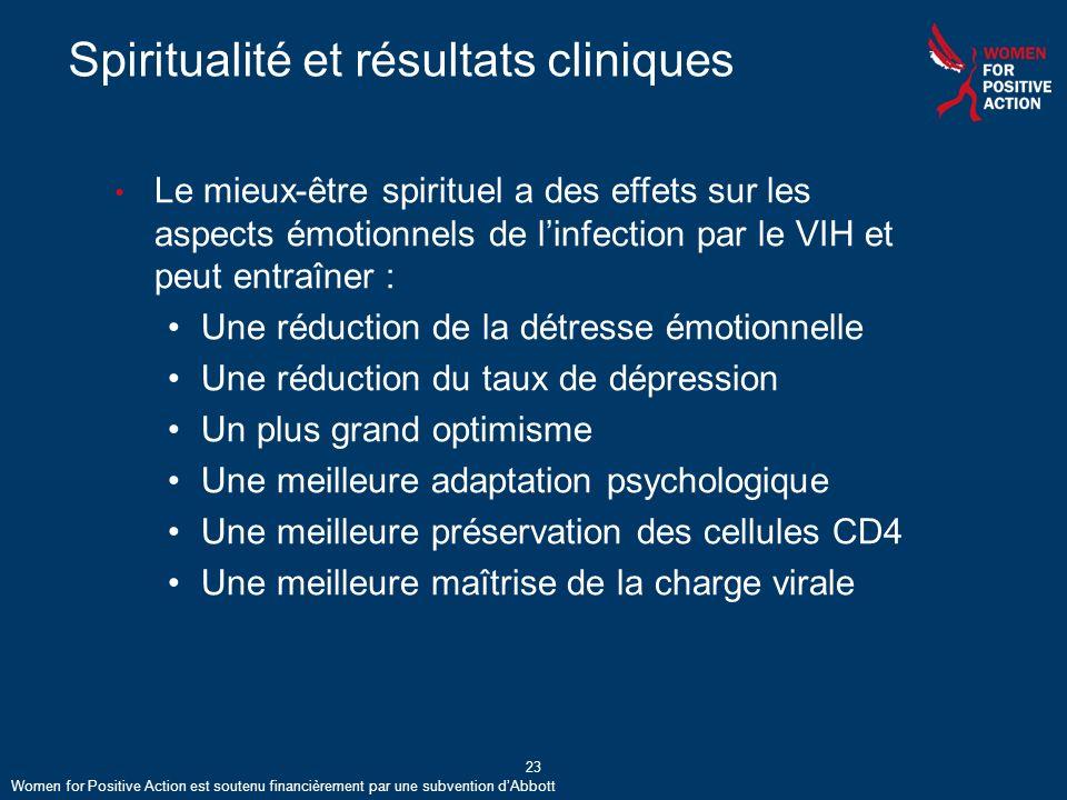 Spiritualité et résultats cliniques