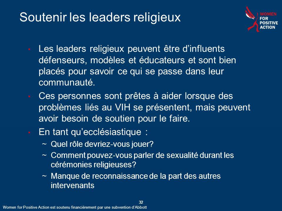 Soutenir les leaders religieux