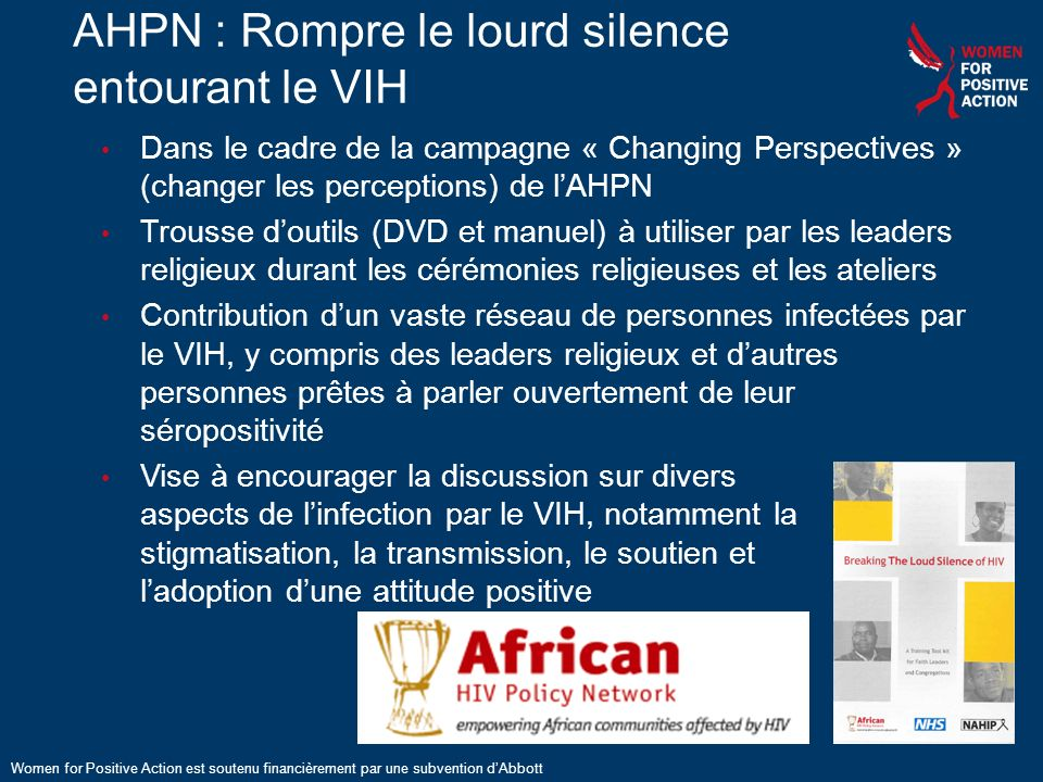 AHPN : Rompre le lourd silence entourant le VIH