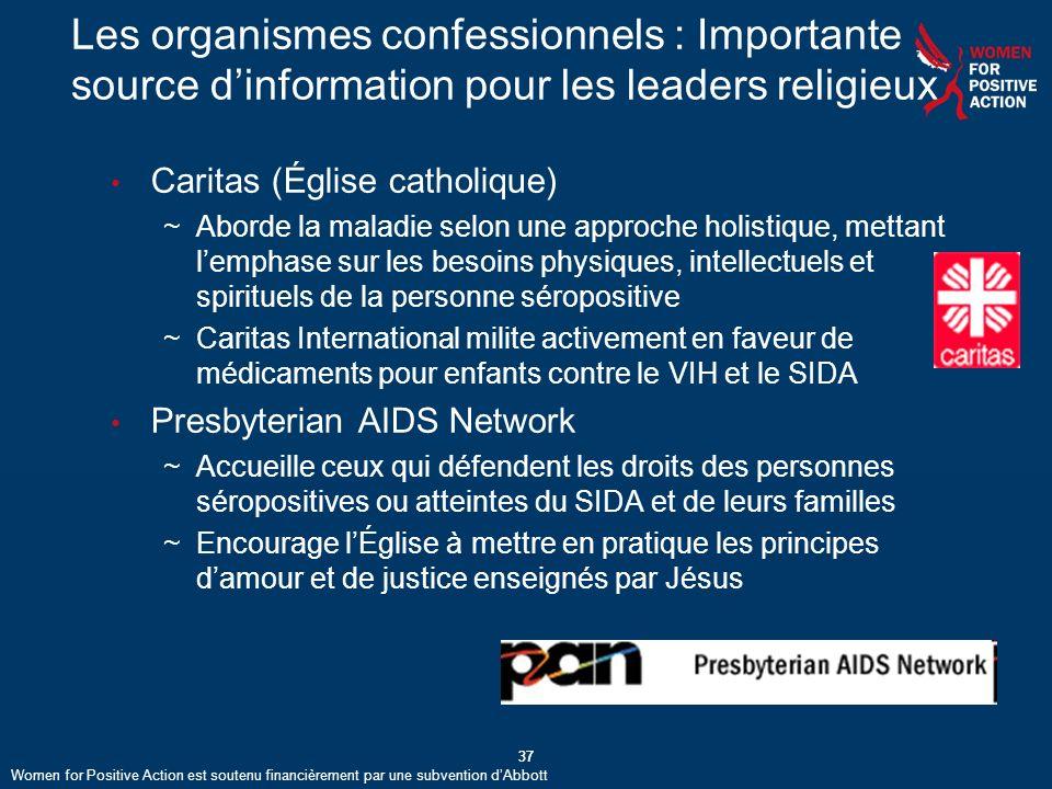 Les organismes confessionnels : Importante source d'information pour les leaders religieux