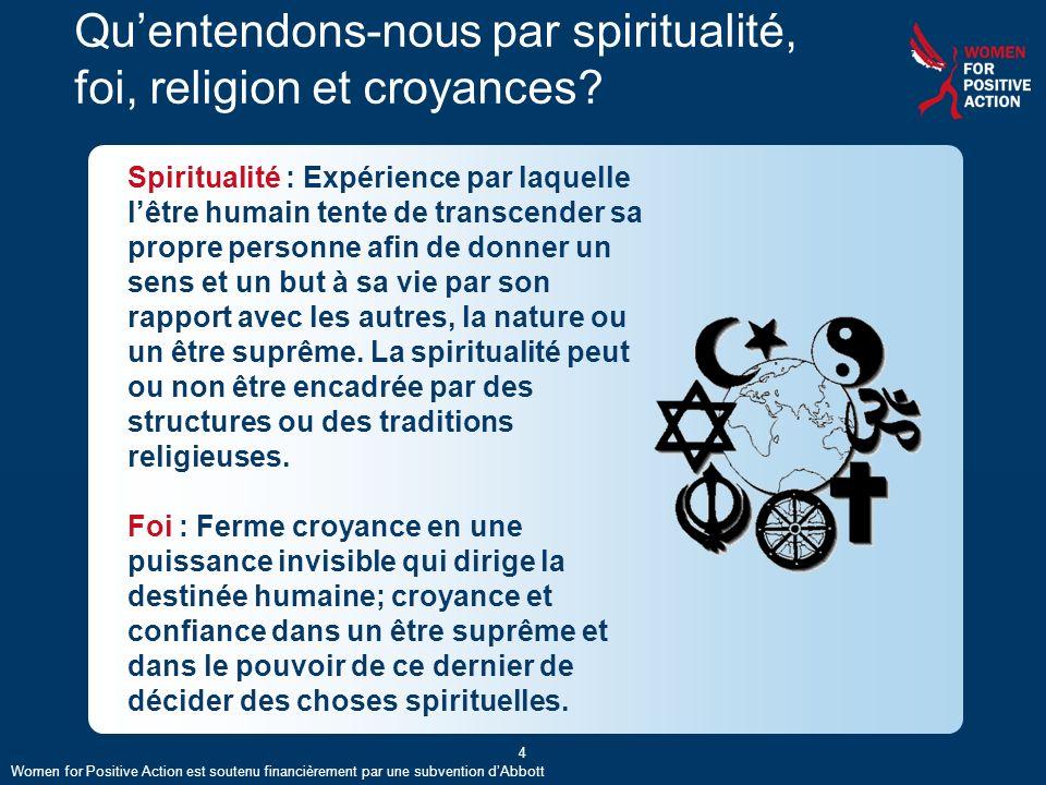 Qu'entendons-nous par spiritualité, foi, religion et croyances