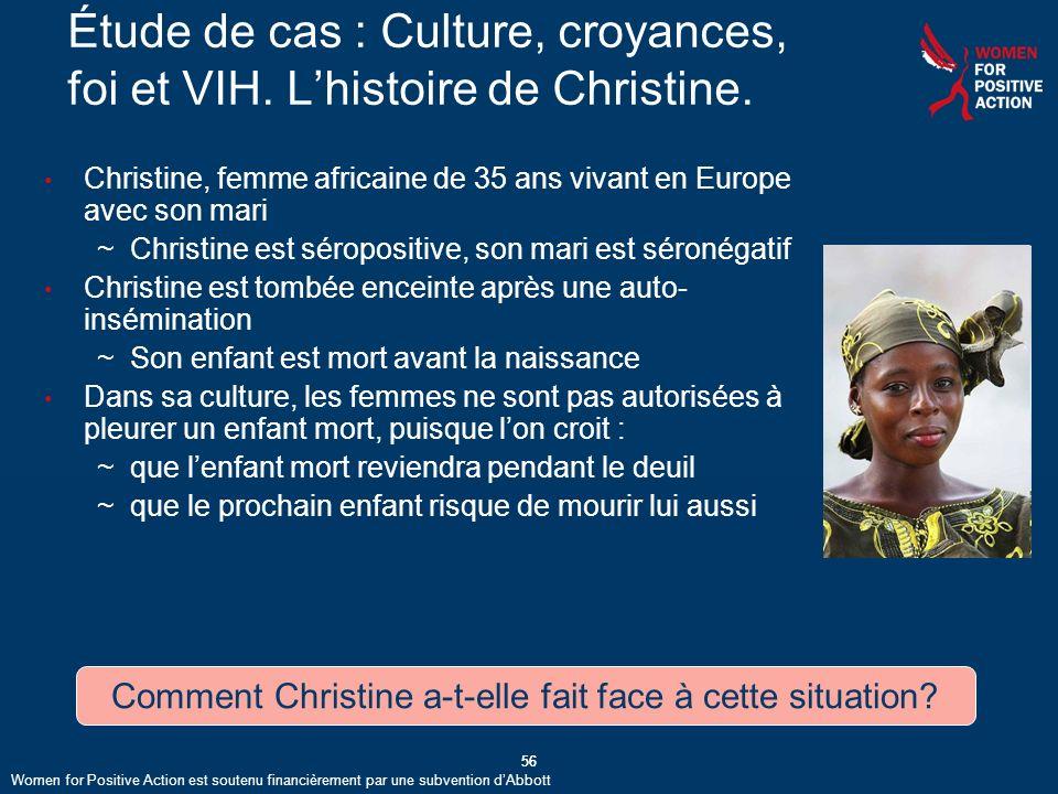Comment Christine a-t-elle fait face à cette situation