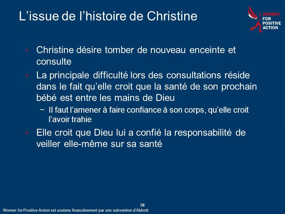 L'issue de l'histoire de Christine