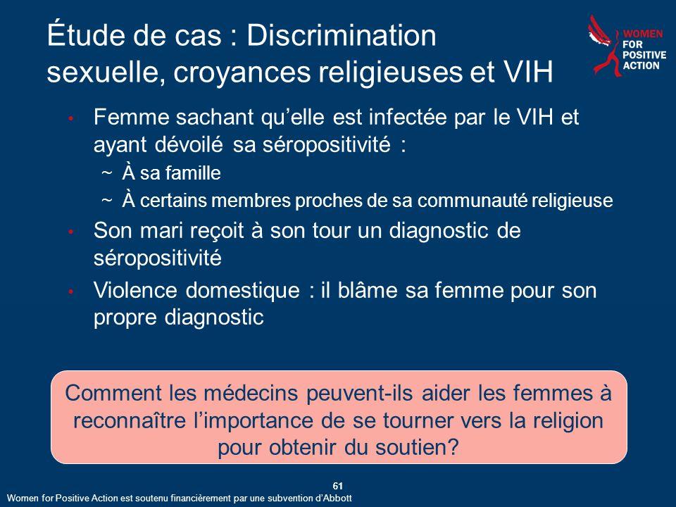 Étude de cas : Discrimination sexuelle, croyances religieuses et VIH