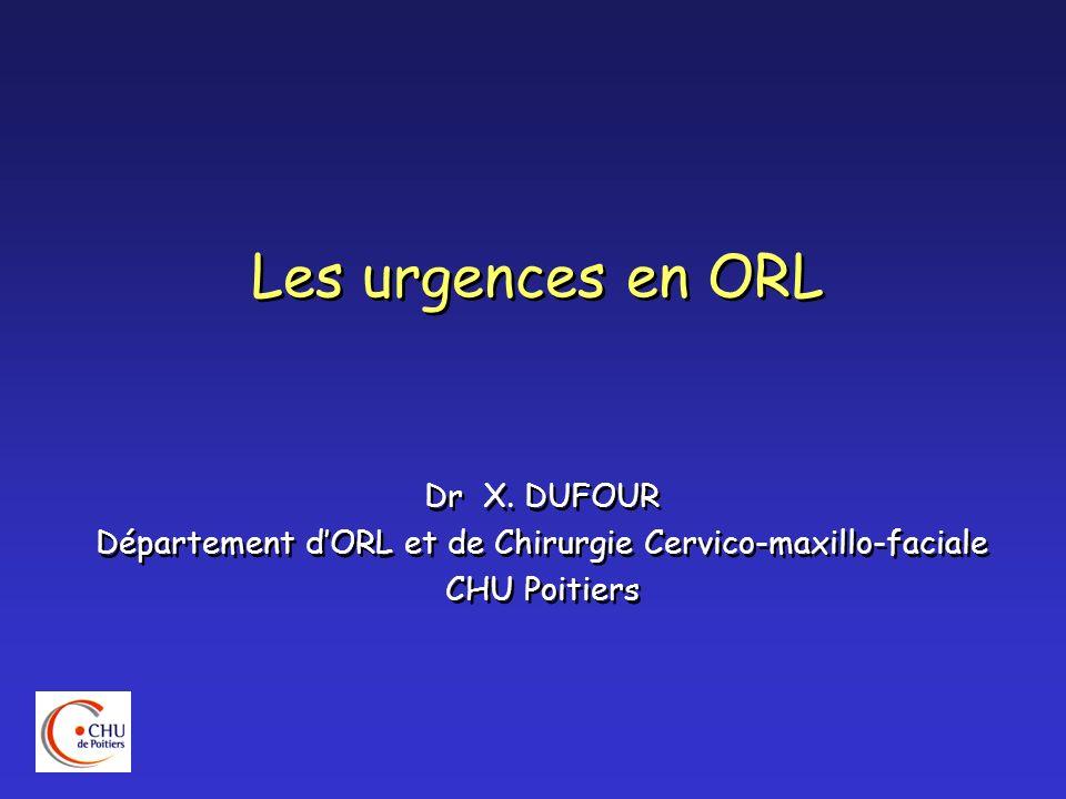 Département d'ORL et de Chirurgie Cervico-maxillo-faciale
