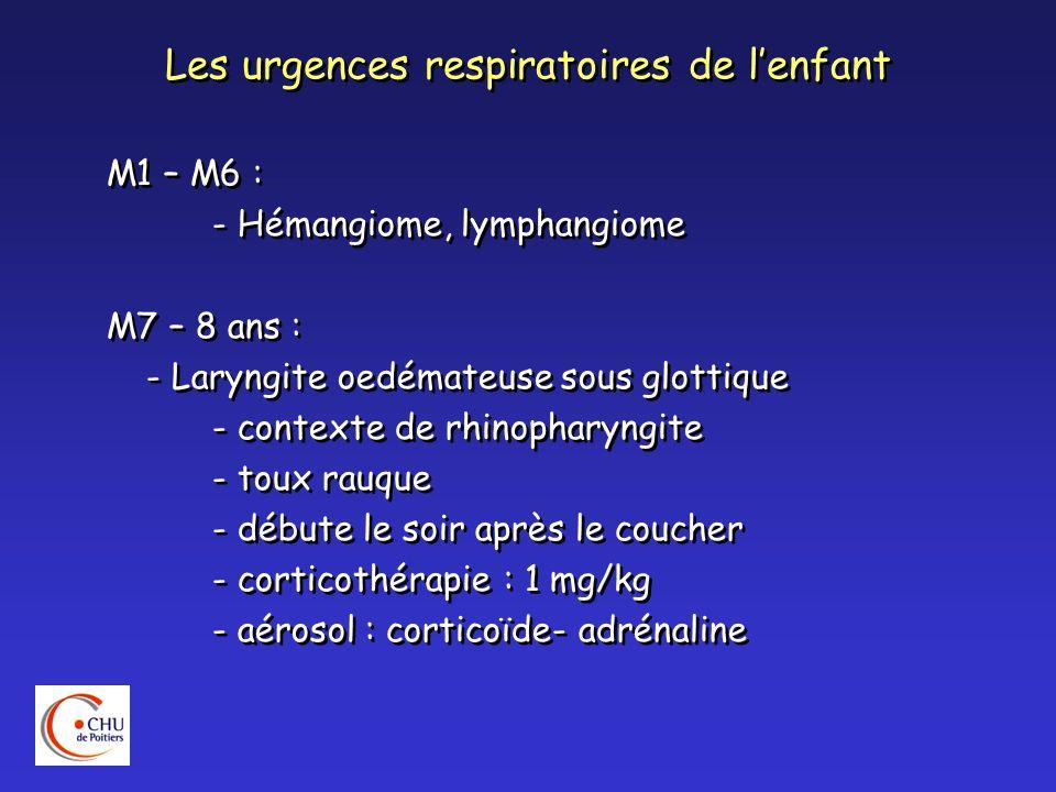 Les urgences respiratoires de l'enfant