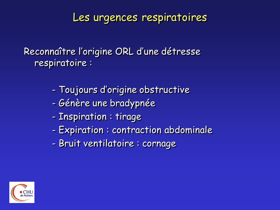 Les urgences respiratoires