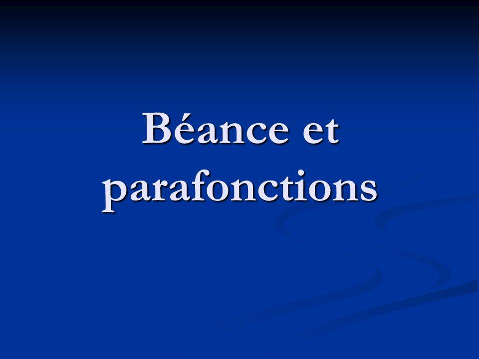 Béance et parafonctions