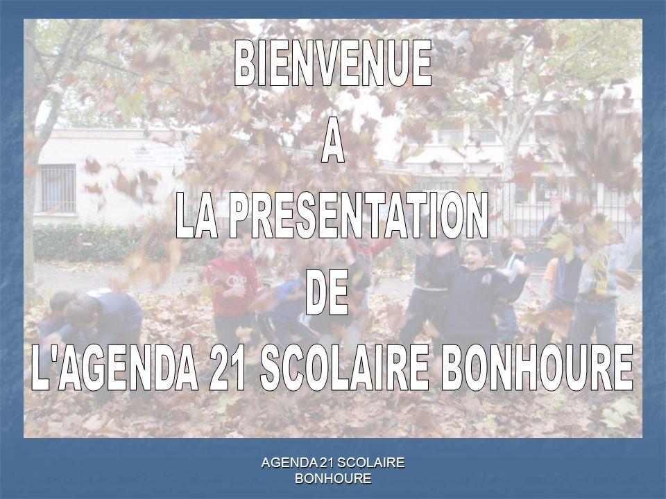 L AGENDA 21 SCOLAIRE BONHOURE