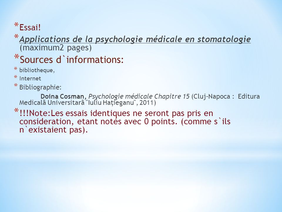 Sources d`informations: