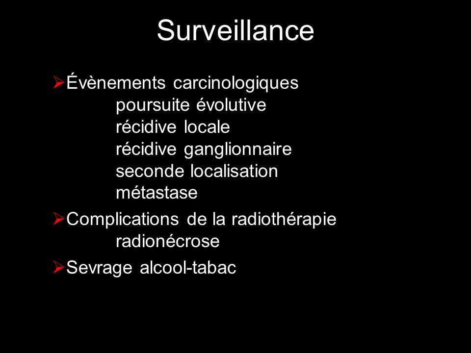 Surveillance Évènements carcinologiques poursuite évolutive récidive locale récidive ganglionnaire seconde localisation métastase.