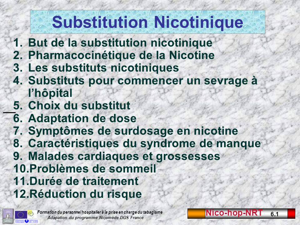 Substitution Nicotinique