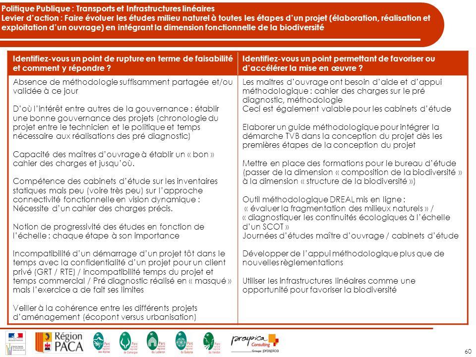 Politique Publique : Transports et Infrastructures linéaires