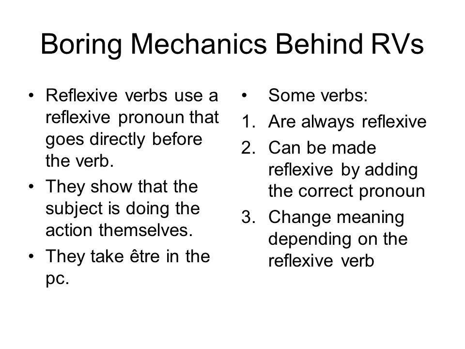 Boring Mechanics Behind RVs