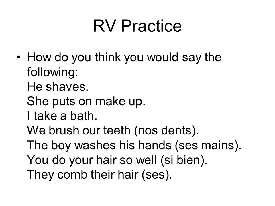 RV Practice